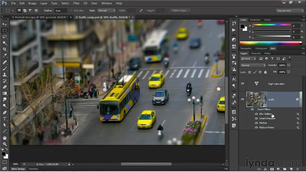 Liquify and Blur Gallery support Smart Objects: Photoshop CS6 New Features