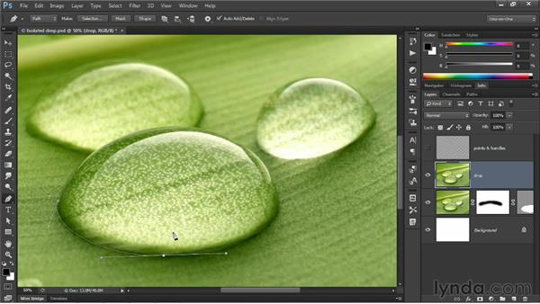 Moving a point with the Pen tool on the fly: Photoshop CS6 New Features