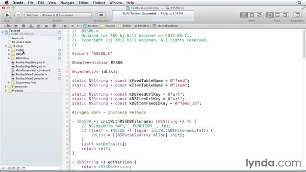 Supporting the application with a specific interface: iOS SDK and SQLite: Building Data-Driven Apps (2013)