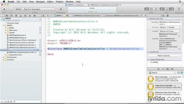 Creating the item view controller: iOS SDK and SQLite: Building Data-Driven Apps (2013)