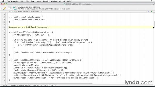 Finding a feed link in a web page: iOS SDK and SQLite: Building Data-Driven Apps (2013)