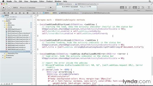 Coding the web view: iOS SDK and SQLite: Building Data-Driven Apps (2013)