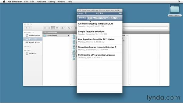 Adding pull-to-refresh functionality: iOS SDK and SQLite: Building Data-Driven Apps (2013)
