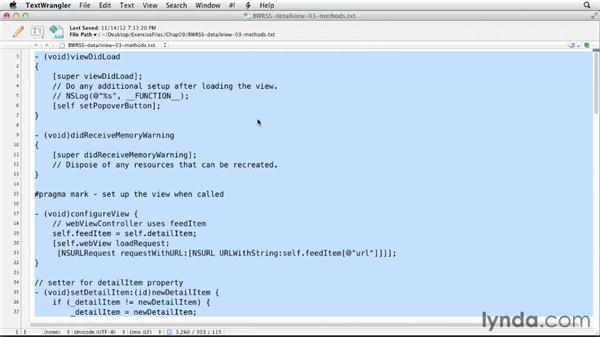 Implementing the iPad detail view: iOS SDK and SQLite: Building Data-Driven Apps (2013)