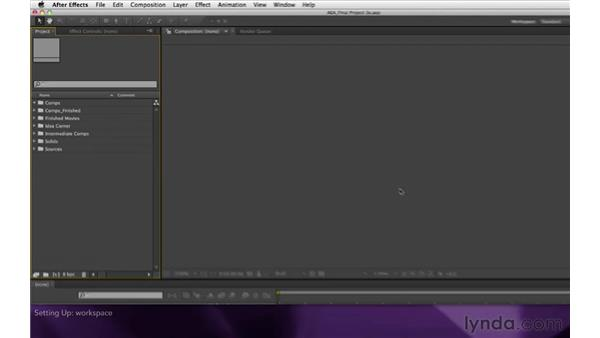 Setting up: After Effects Apprentice 16: Creating a Medical Opening Title