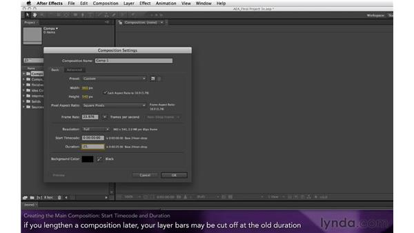 Creating the main composition: After Effects Apprentice 16: Creating a Medical Opening Title