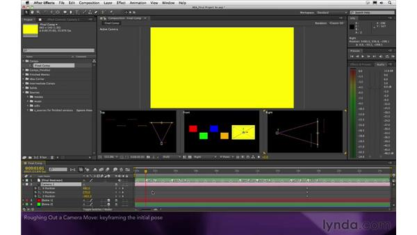 Roughing out a camera move: After Effects Apprentice 16: Creating a Medical Opening Title