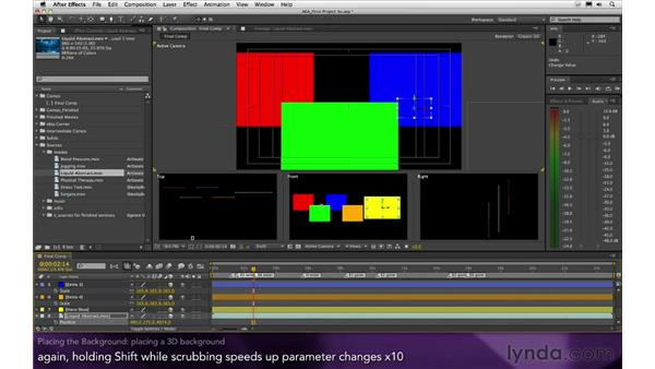 Placing the background: After Effects Apprentice 16: Creating a Medical Opening Title