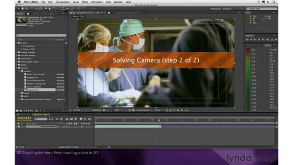 3D tracking the hero shot: After Effects Apprentice 16: Creating a Medical Opening Title