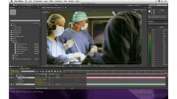 Time stretching: After Effects Apprentice 16: Creating a Medical Opening Title