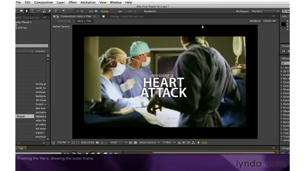Framing the hero: After Effects Apprentice 16: Creating a Medical Opening Title