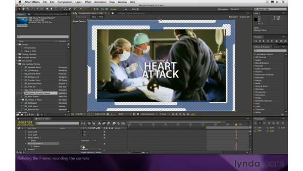 Refining the frame: After Effects Apprentice 16: Creating a Medical Opening Title