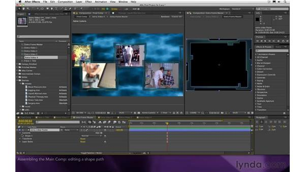 Assembling the main comp: After Effects Apprentice 16: Creating a Medical Opening Title