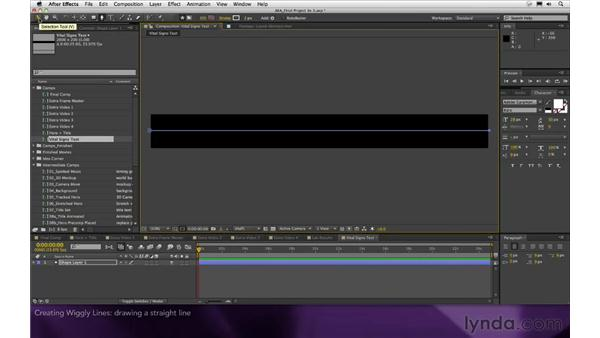 Creating wiggly lines: After Effects Apprentice 16: Creating a Medical Opening Title