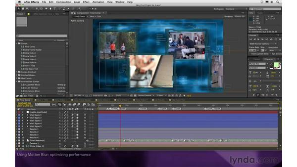 Using motion blur: After Effects Apprentice 16: Creating a Medical Opening Title