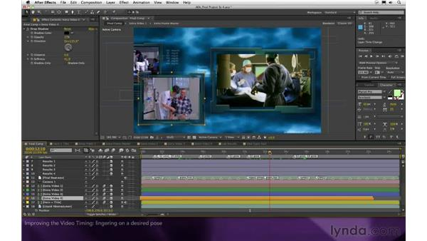 Improving the video timing: After Effects Apprentice 16: Creating a Medical Opening Title