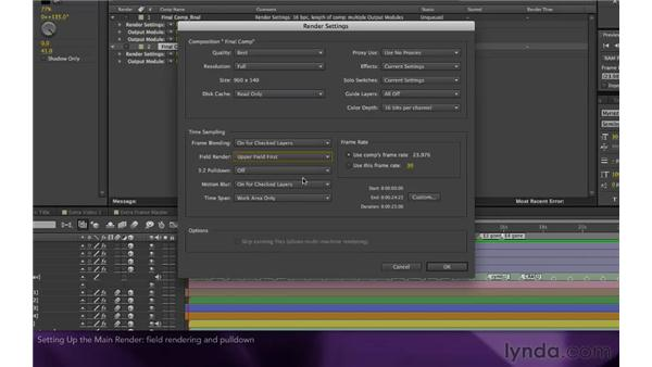 Setting up the main render: After Effects Apprentice 16: Creating a Medical Opening Title