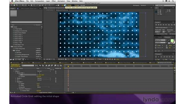 Animated circle grid: After Effects Apprentice 16: Creating a Medical Opening Title