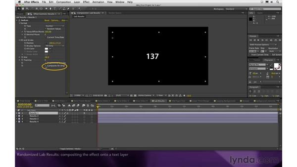 Randomized lab results: After Effects Apprentice 16: Creating a Medical Opening Title