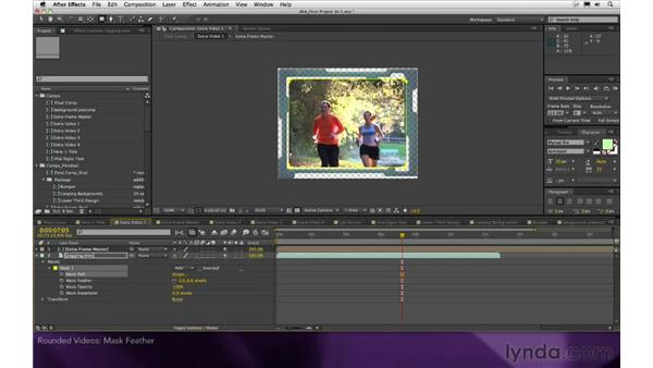 Rounded videos: After Effects Apprentice 16: Creating a Medical Opening Title