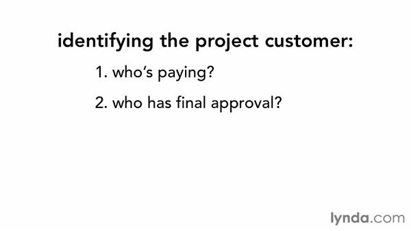 Identifying the project customer: Managing Small Projects