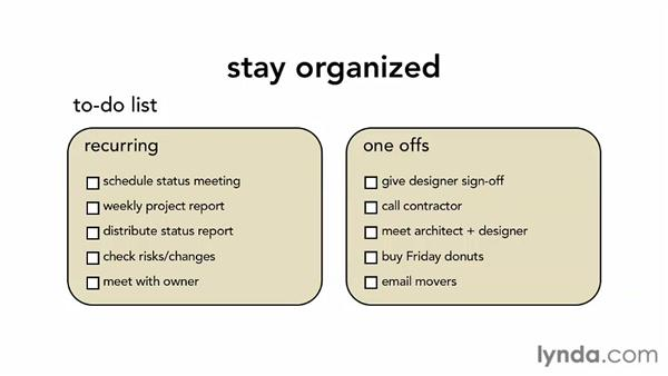 Keeping things moving: Managing Small Projects
