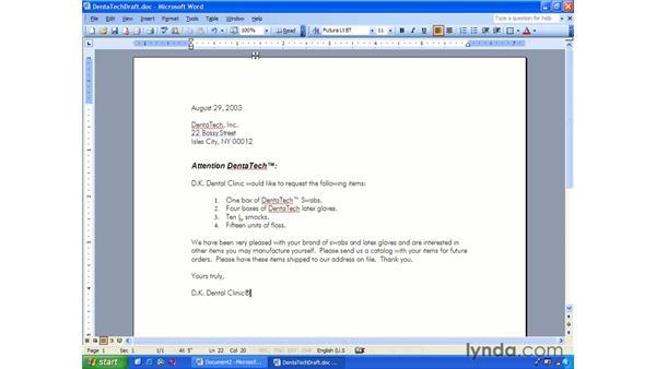 undo and redo: Word 2003 Essential Training