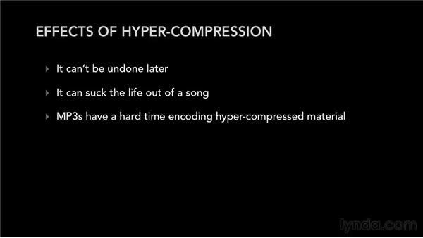Understanding the pitfalls of hypercompression: Audio Mastering Techniques