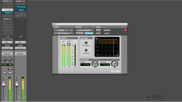 Reducing sibilance with a de-esser: Audio Mastering Techniques