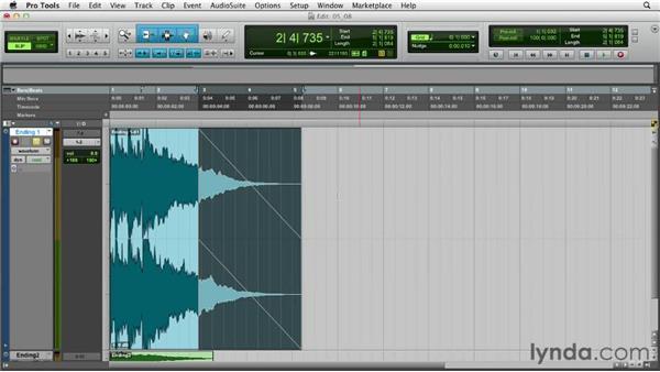 Inserting fades: Audio Mastering Techniques