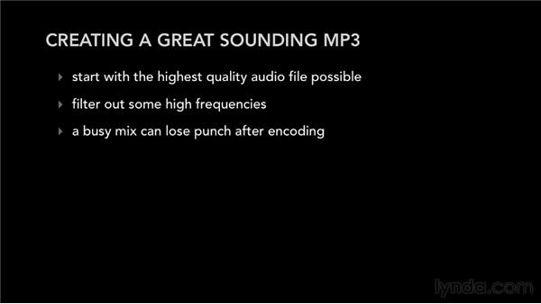 Creating a great-sounding MP3: Audio Mastering Techniques