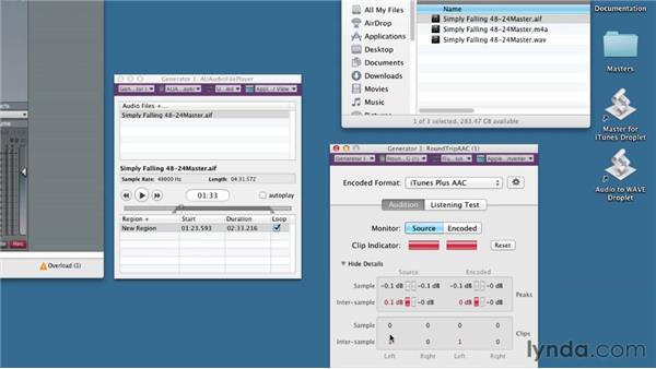 Using the Mastered for iTunes AURoundTripAAC Audio Unit tool: Audio Mastering Techniques