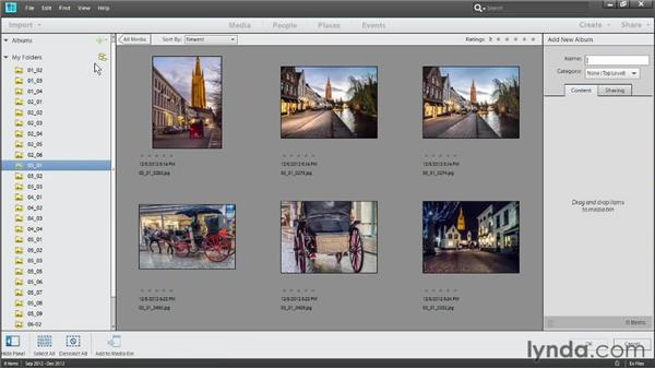 Creating albums: Photoshop Elements 11 Essentials: 03 Sharing and Printing Photos