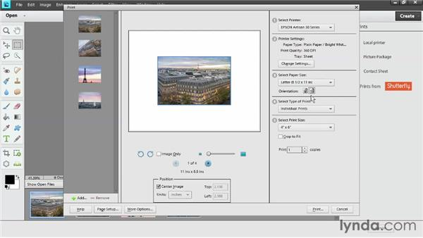 Desktop photo printing from the Editor on Windows: Photoshop Elements 11 Essentials: 03 Sharing and Printing Photos