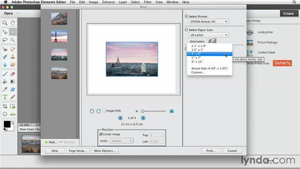 Desktop photo printing on a Mac: Photoshop Elements 11 Essentials: 03 Sharing and Printing Photos