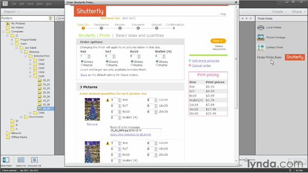 Ordering commercially printed photos: Photoshop Elements 11 Essentials: 03 Sharing and Printing Photos