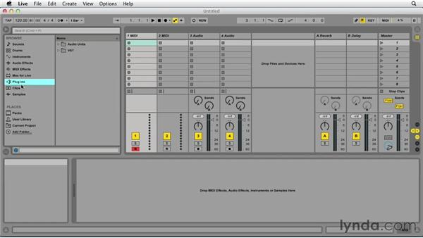 Using the Ableton Live 9 browser: Up and Running with Ableton Live 9