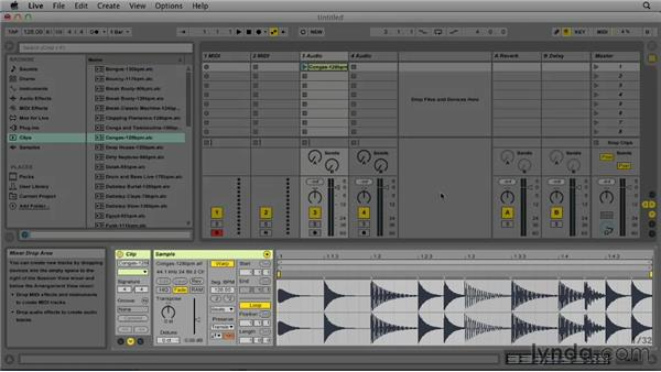 Looking at the interface: Up and Running with Ableton Live 9