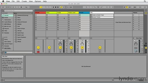 Preparing for recording: Up and Running with Ableton Live 9