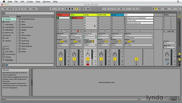 Recording line instruments: Up and Running with Ableton Live 9