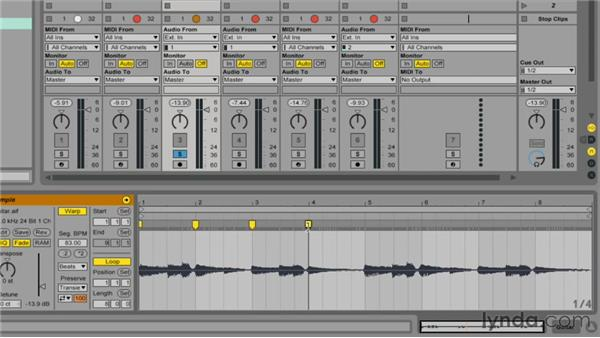 Warping clips: Up and Running with Ableton Live 9