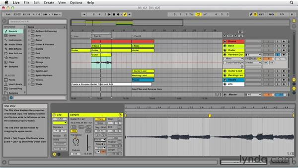 Editing clips: Up and Running with Ableton Live 9