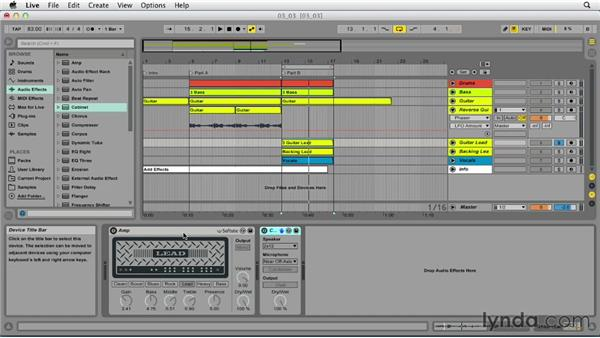 Adding effects: Up and Running with Ableton Live 9