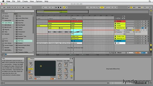 Creating and recording automation: Up and Running with Ableton Live 9