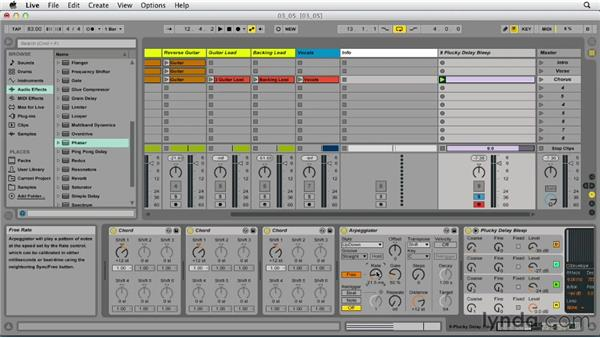 Creating a transition effect and recording automation in Session view: Up and Running with Ableton Live 9