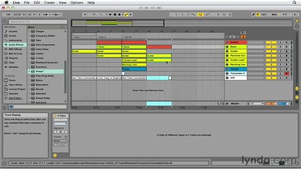 Using time commands: Up and Running with Ableton Live 9