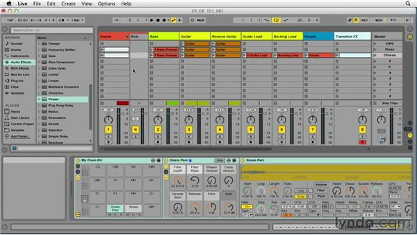 Preparing your project for mixing: Up and Running with Ableton Live 9