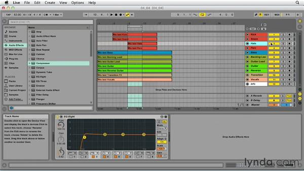Using side-chain compression: Up and Running with Ableton Live 9