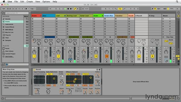 Adding reverb and delay: Up and Running with Ableton Live 9