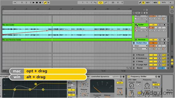 Dynamic mixing using automation: Up and Running with Ableton Live 9